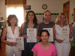Certificate of attendance at the end of the course